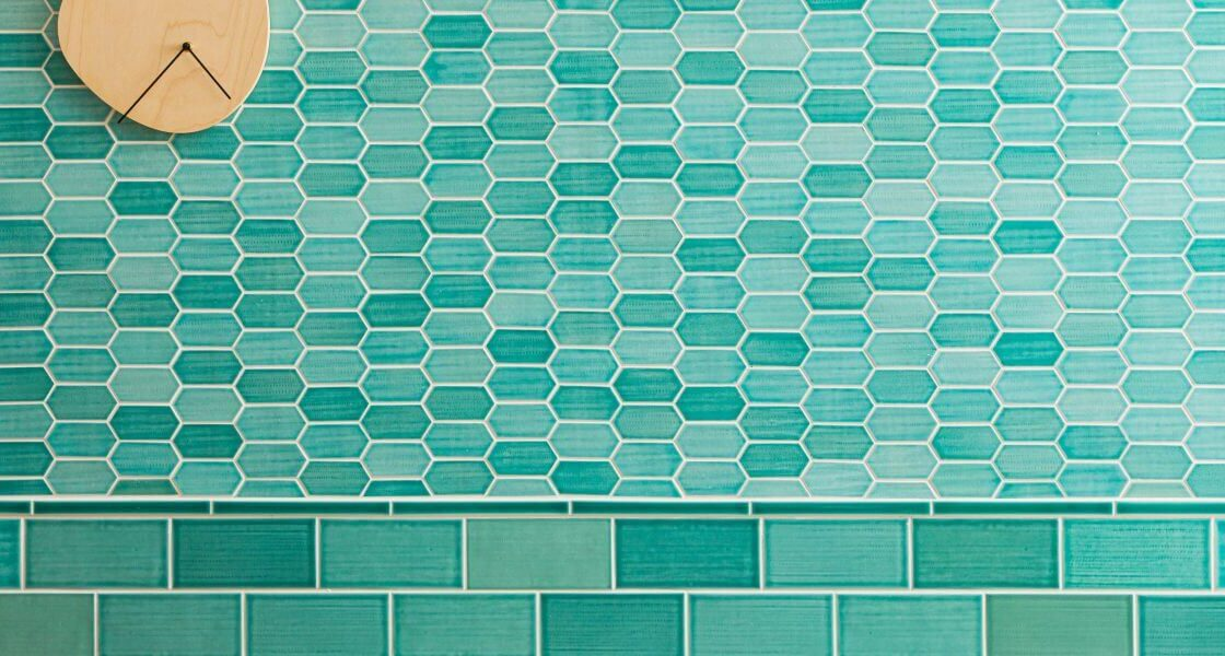 Chat Green mosaic tile